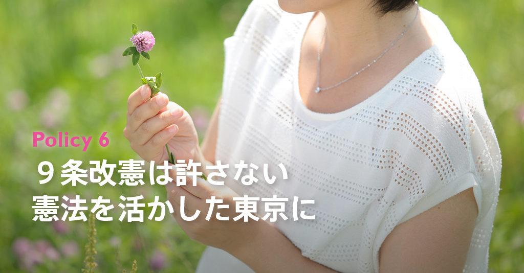 9条改憲は許さない 憲法を活かした東京に